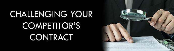 Challenging your competitors contract