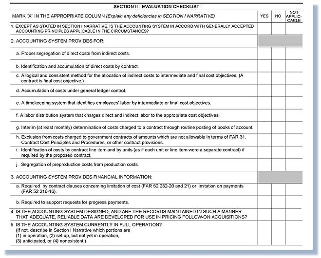 DCAA Compliance Requirements - SF1408