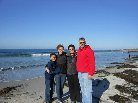 Cere and Family at the Beach