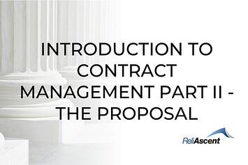 Government Contract Management Consulting - Part II - The Proposal