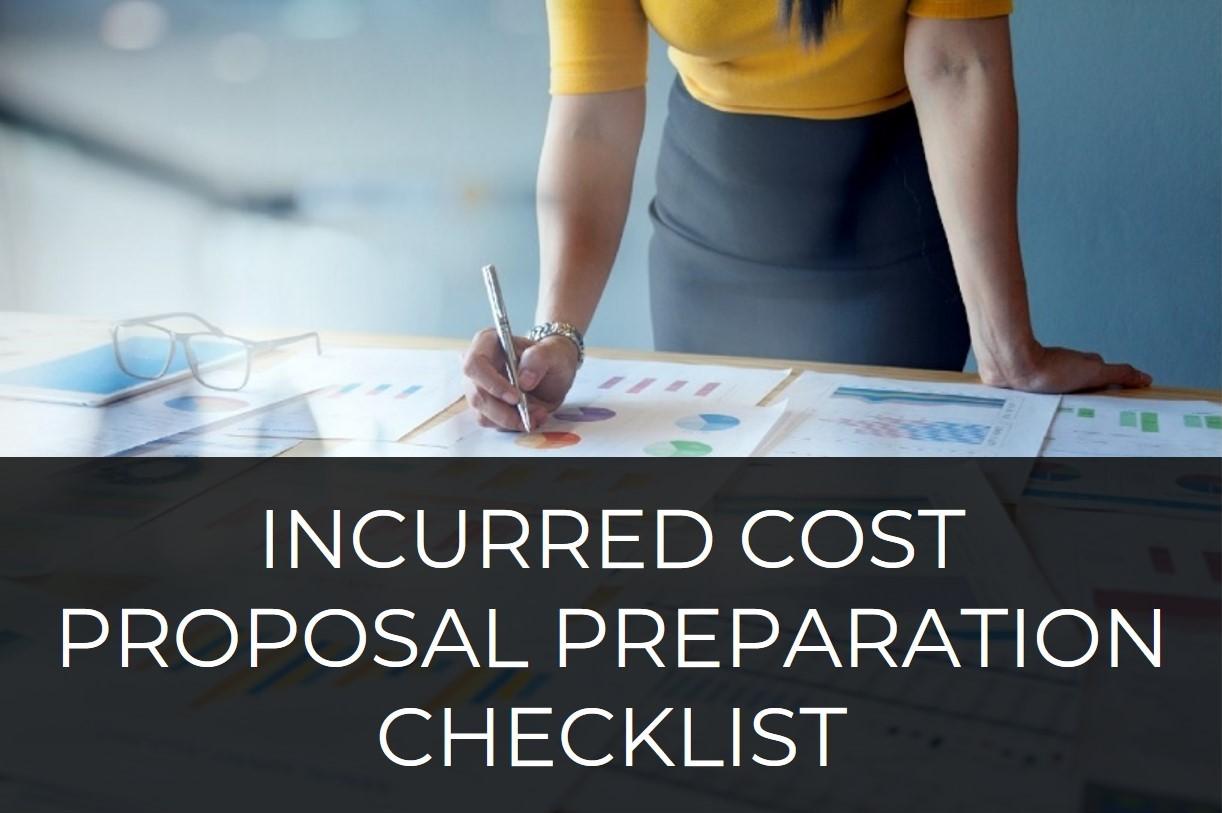 Incurred Cost Proposal Checklist