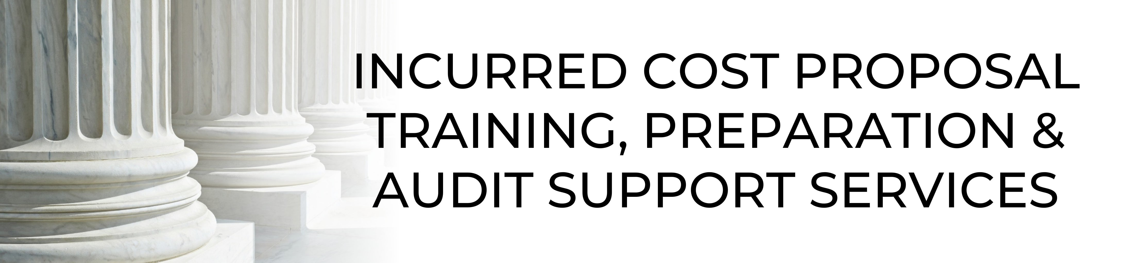 Incurred Cost Proposal Training and Support Services