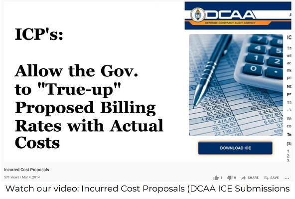 Incurred Cost Proposals - DCAA ICE Submission