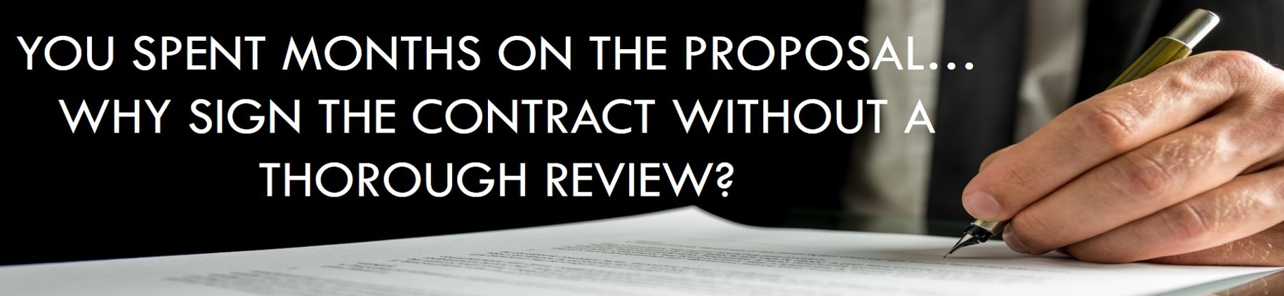 government contract reviews